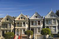 Victorian Style Homes Near Alamo Square San Franc