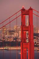 Golden Gate Bridge With City Of San Francisco, Cal