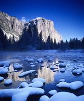 California, Yosemite National Park, Snowy Landscap