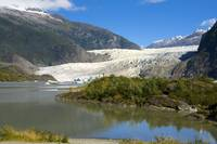 Scenic view of Mendenhall Glacier in Southeast Ala