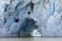 Ice tunnel through moraine of Colony Glacier, Lake