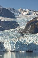 Scenic view of Stairway glacier flowing into Surpr