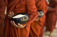 Monks With Rice Bowls, Inle Lake, Myanmar