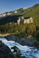 Banff Springs Hotel And Bow Falls, Banff National