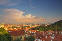 View Of Prague Rooftops From Castle Hill Prague C
