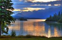 Sunrise on Lake Clark in Lake Clark National Park,