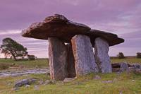 Poulnabrone Portal Dolmen In The Burren Region Co