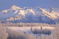 Scenic landscape of Byers Peak and Matanuska Peak