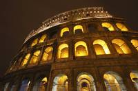 Night Lights Of The Colosseum Rome Lazio, Italy