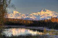 View of southside Mount McKinley and Mount Hunter