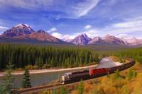 Train In Banff National Park