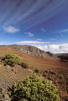 Hawaii, Maui, Hikers Inside Haleakala Crater