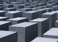 Concrete Blocks At Jewish Holocaust Memorial Berl