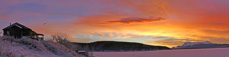 Sunrise Over Teslin Lake, Yukon