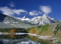 Wedge Pond And Early Fall Snow, Kananaskis Country