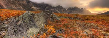 Tombstone Mountain, Tombstone Territorial Park In