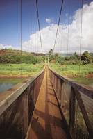 Hawaii, Kauai, Hanapepe, Wooden Footbridge Across