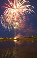 Fireworks Display On Canada Day Sherwood Park, Alb