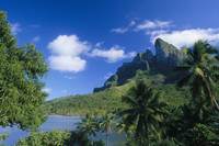 French Polynesia, Bora Bora, Coastal Mountains Wit