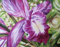 Sister, Abstract Pink And Purple Orchid