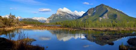 Mount Rundle In Banff National Park, Alberta, Cana