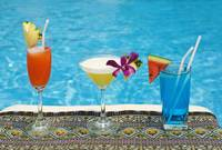 Chiang Mai, Thailand, Tropical Drinks By The Pool