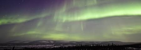 Aurora Borealis Or Northern Lights Over The Eagle