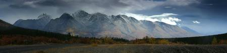 Clearing Storm Over North Canol Road, Yukon