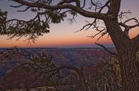 South Rim Of Grand Canyon At Dusk, Arizona