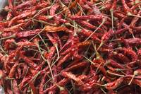 Laos, Vang Vieng, Closeup Of Chili Peppers At Stre