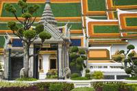 Detail Of Gardens And Temple In Royal Palace Compl
