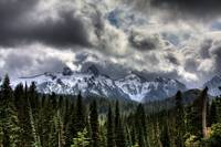 Storm Clouds, Mount Rainier, Pierce County, Washin