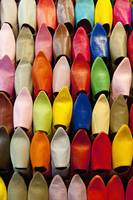 Colorful Shoes In A Market In Marrakesh, Morocco