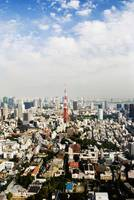 Japan, Tokyo, Tower And City View From Top Of Mori