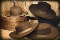 Selection Of Old-Fashioned Hats In Sepia Tones