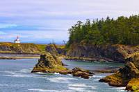 Cape Arago Lighthouse At Shore Acres State Park At