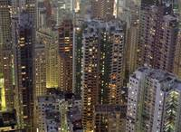 Crowded Residential Tower Blocks As Seen From The