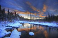 Little Hazel Creek At Sunset, Yukon, Canada
