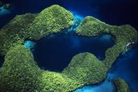 Micronesia, Palau, Rock Islands, Aerial Of Rock Is
