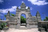 Indonesia, Bali, Ulu Watu Temple Outside Gateway