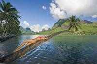 French Polynesia, Tahiti, Moorea, Beautiful Young