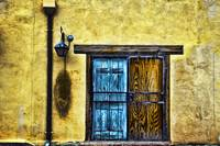 Colorful Wooden Doorway And Wall, New Mexico