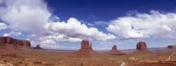 Glove Buttes And Clouds, Monument Valley, Utah