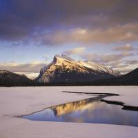 Vermilion Lake And Mount Rundle, Banff National Pa