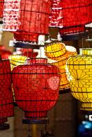 China, Beijing, Decorative Lanterns In Market Plac