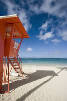 Hawaii, Oahu, Waikiki Beach, Lifeguard Tower