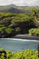 Hawaii, Maui, Hana, The Black Sand Beach of Waiana