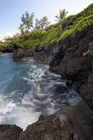 Hawaii, Maui, Hana, The rocky coastline of Waianap