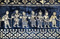 Motif On Side Of Wat Xieng Thong