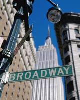 Broadway Sign And Empire State Building New York